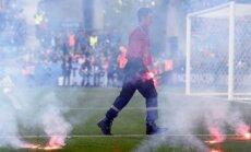 Kroatų aistruoliai kėsinosi sudeginti aikštę