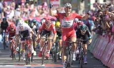 Giro d'Italia dviratininkų lenktynių trečio etapo finišas