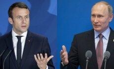 Emanuelis Macronas ir Vladimiras Putinas