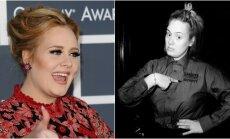 Adele su makiažu ir be jo