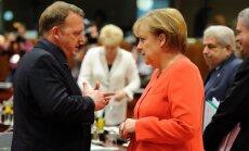 Larsas Lokke Rasmussenas, Angela Merkel