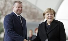 Angela Merkel and Saulius Skvernelis