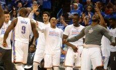 Oklahomos Thunder krepšininkai triumfuoja