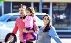 Ashtonas Kutcheris, Mila Kunis ir dukrelė Wyatt