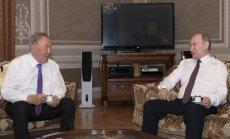 N. Nazarbajevas ir V. Putinas