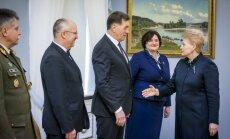 Vytautas Jonas Žukas, Juozas Olekas, Algirdas Butkevičius, Loreta Graužinienė ir Dalia Grybauskaitė