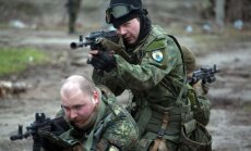 Ukrainos kariai dalyvauja mokymuose Mariupolyje