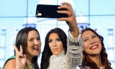 K. Kardashian vaškinė figūra
