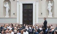 Lietuvos pirmininkavimo ES Tarybai atidarymo ceremonija VU Didžiajame kieme