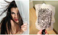 Priemonė besielektrinantiems plaukams