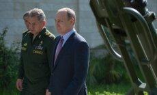 S. Šoigu ir V. Putinas