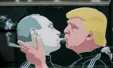 Revamped Trump-Putin graffiti in Vilnius sends new message on cannabis