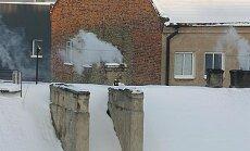 Žiema, miestas, kaminai