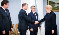 Raimundas Karoblis, Saulius Skvernelis, Viktoras Pranckietis ir Dalia Grybauskaitė