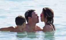 Markas Wahlbergas su šeima Barbadose