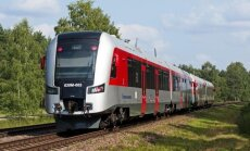 Lithuanian state-run railway company train