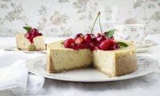 Nekeptas sūrio tortas