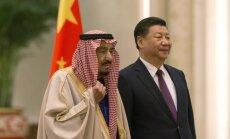 Saudo Arabijos karalius Salmanas ir Kinijos prezidentas Xi Jinpingas