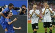 Europos čempionato ketvirtfinalyje laukia finalo vertas mūšis (AP ir Reuters nuotr.)