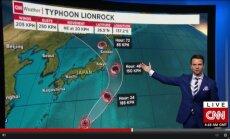 Japonija ruošiasi taifūnui
