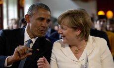 Barackas Obama, Angela Merkel