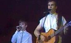 Arvydas Vilčinskas su sūnumi Tadu