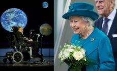 Stephenas Hawkingas, karalienė Elžbieta II