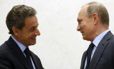 Nicolas Sarkozy and Vladimir Putin