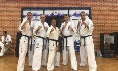 (iš kairė) Justas Laužinkas, Valius Rudys, Kenji Midori, Aivaras Dadura, Dmitrijus Aleksandrovas