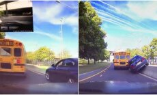 BMW įsirėžia į autobusą