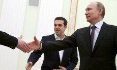 Vladimir Putin and Greek PM Alexis Tsipras
