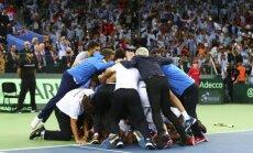 Argentinos rinktinė džiaugiasi pergale Deviso taurės finale