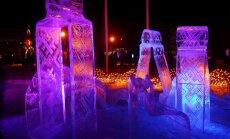 Pirmasis ledo skulptūrų festivalis baigėsi ledinės Morės ašaromis