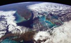 Giedrą dieną galima matyti visą pasaulį (ar bent jau nuo Havanos iki Vašingtono) (Ch. Hadfieldo/NASA nuotr.)