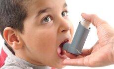 vaikas, berniukas, liga, inhaliatorius, vaistai, bronchinė astma, kosulys,