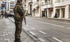 Soldiers guarding hotel in Brussels Photo Ludo Segers