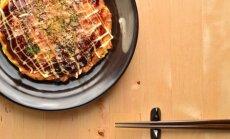 Okonomiyaki blynai iš makaronų