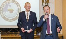 Honorary Consul Mr. Linas Aldonis with Mr. Sankalas looking on