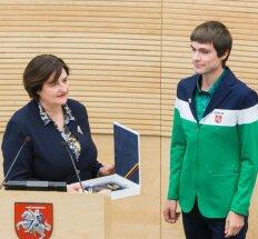 Loreta Graužinienė ir Marius Žiūkas (O. Posaškovos nuotr.)