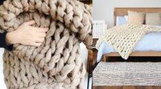Kaip per pusvalandį pasidaryti jaukiausią ir šilčiausią antklodę VIDEO