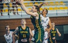 Paskutinėje Europos jaunimo U20 čempionato kovoje pralaimėta serbams