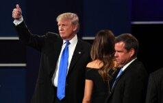 D. Trumpas skelbia po debatų sulaukęs 13 mln. dolerių aukų