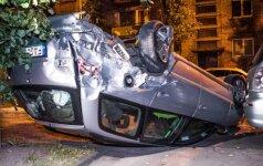 Naktį sostinėje didelę avariją sukėlė visiškai girtas vairuotojas