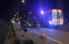 Vilniuje vėlų vakarą žuvo su automobiliu susidūrusio motorolerio vairuotojas