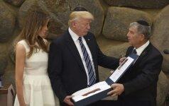 """D. Trumpas sveikina žydų """"nepalaužiamą dvasią"""""""