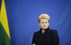 Lithuania's President Dalia Grybauskaite