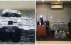 Rumunijoje sulaikyti keturi 2,5 tonos kokaino gabenę lietuviai