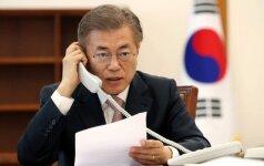 Pietų Korėjos prezidentas pakvietė Pchenjano delegaciją į 2018-ųjų žiemos olimpines žaidynes