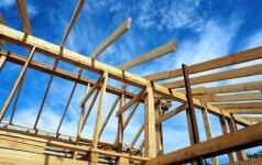 Karkasinis namas: stogo konstrukcijos įrengimas