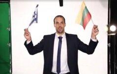 Izraelio rinktinė lietuviškai pasveikino mūsiškius: sveiki atvykę!